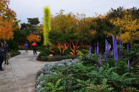 Garden at Chihuly Garden and Glass in Seattle, Washington