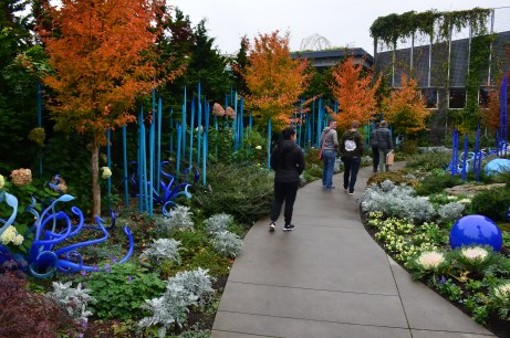 A section of the Garden at Chihuly Garden and Glass in Seattle, Washington