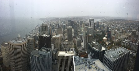 The view from Columbia Center in Seattle, Washington