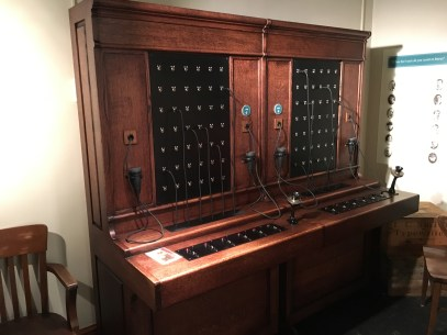 Telephone switchboard at the Smith Tower in Seattle, Washington