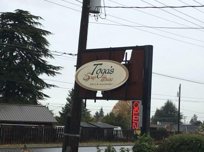 Toga's Soup House in Port Angeles, Washington