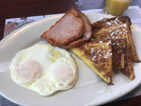 Eggs and French toast at River's Edge Restaurant in La Push, Washington