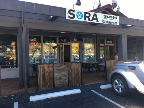 Sora Sushi in Woodinville, Washington