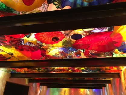 Glass ceiling at Chihuly Garden and Glass in Seattle, Washington