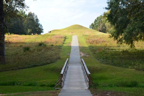 Path to Earth Lodge at Ocmulgee National Monument in Macon, Georgia