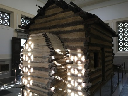 """Symbolic """"birth cabin"""" at Abraham Lincoln Birthplace National Historical Park in Kentucky"""