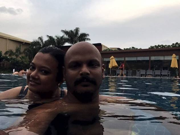Author & partner at the pool of Umrao