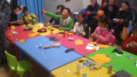 Arts and crafts at Halloween