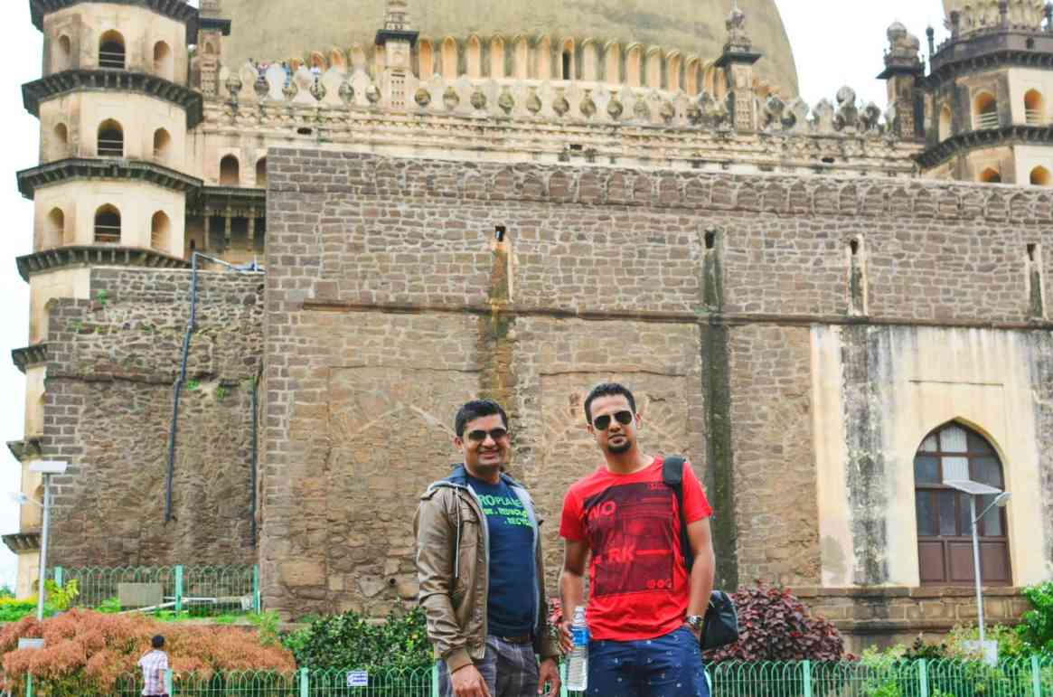 Ajay & Me - You can see that Museum blocking the View of Gol Gumbaz here.