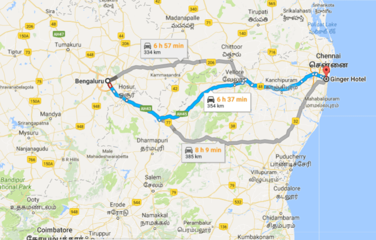 Bangalore to Chennai