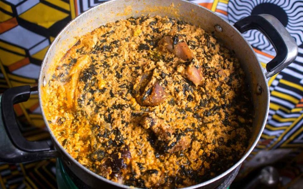 Nigerian food: Egusi (Melon Seed Soup)