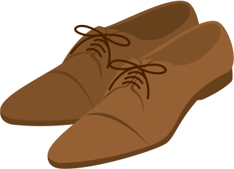 バイト面接に磨いた皮靴