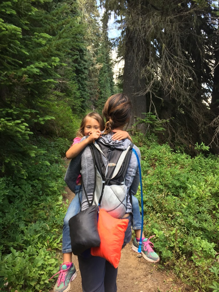 carry webbing when hiking with kids