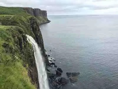 Hiking Isle of Skye at Kilt Rock