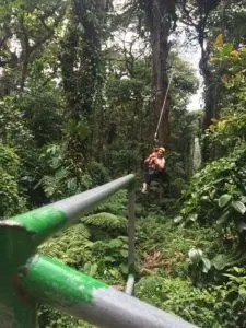 zip lining in one of the best national park Costa Rica