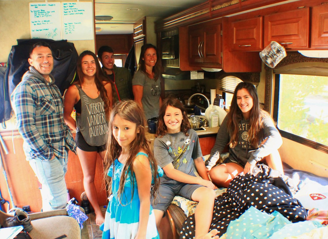 living in an RV with 5 kids
