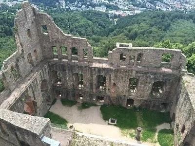 german castle, baden baden castle, europe castles
