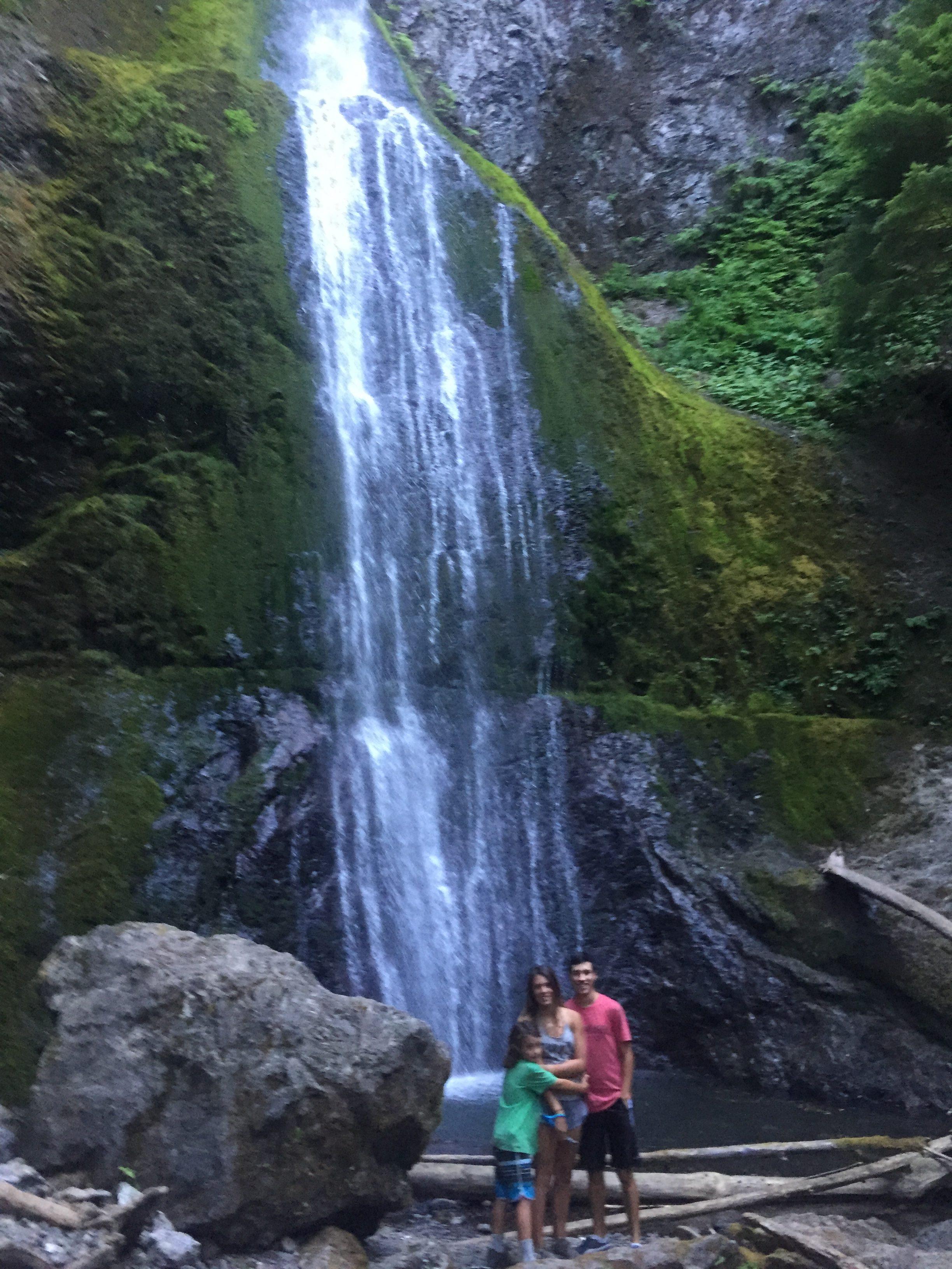 Marymere falls in Olympic National Park Washington
