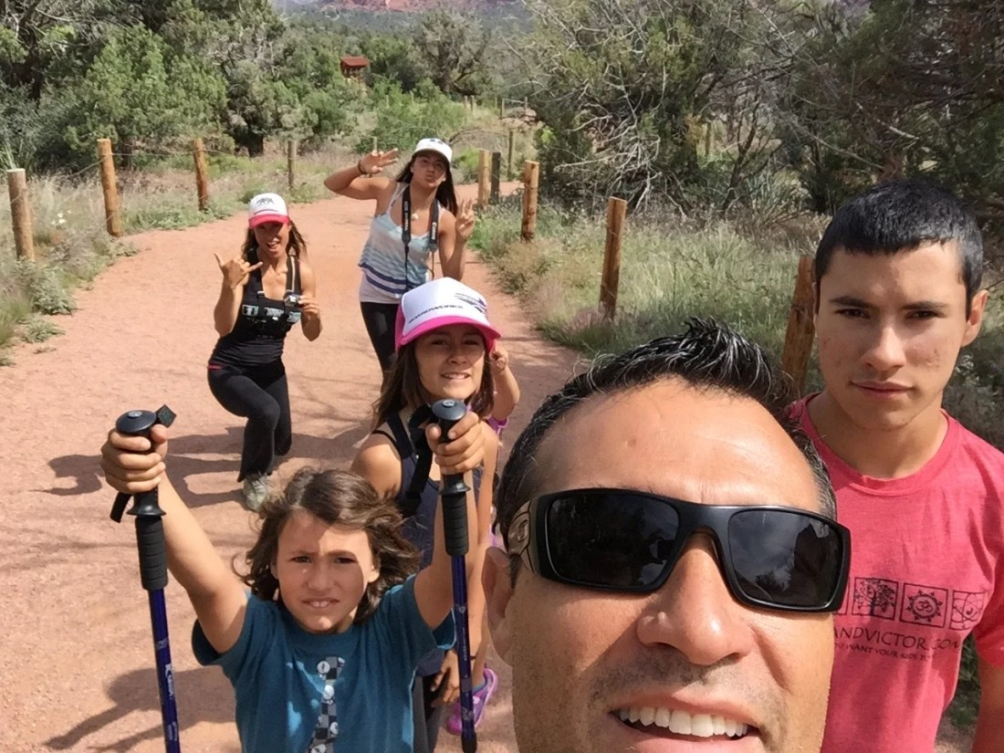 Hiking Bell Rock on our southwest national park road trip