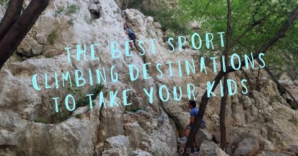 Best Sport Climbing Destinations to take Kids
