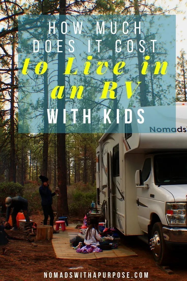 How Much Does it cost to live in an rv with kids