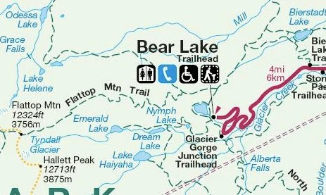 Bear Lake Trailhead Map, Best Day Hikes from Bear Lake in Rocky Mountain National Park + Camping Tips