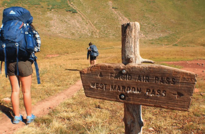 Base of Frigid Air Pass, Backpacking the Maroon Bells Four Pass Loop