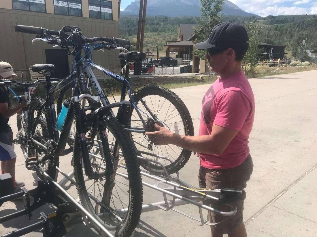 Bike racks, Getting Around Breckenridge: How to use the free bus system