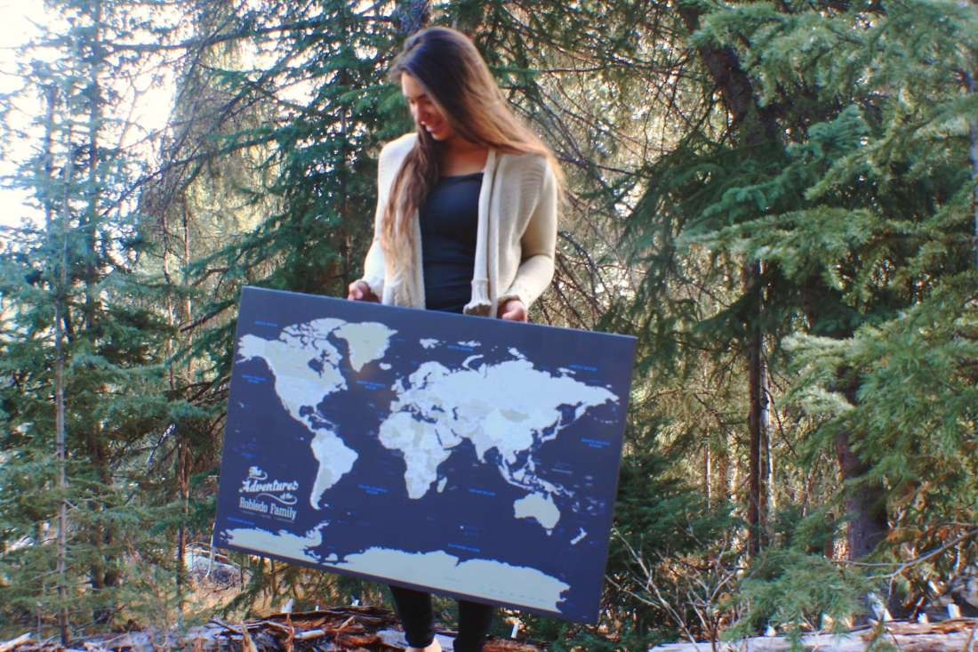 Best Gift for Travelers: Push Pin Travel Maps
