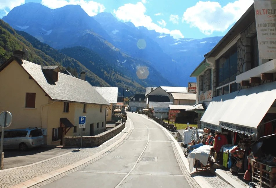 town of Gavarnie in the French Pyrenees