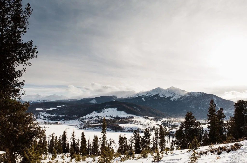 Sapphire point overlook, things to do in summit county in winter (Breckenridge to Silverthorne)