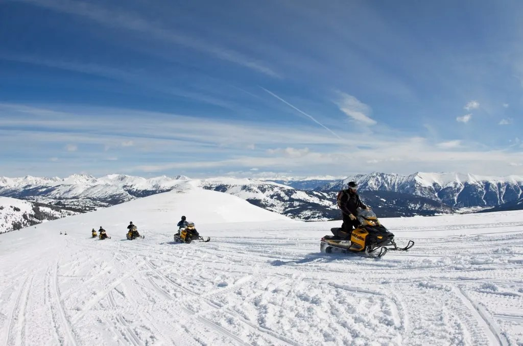 Snowmobiling, things to do in summit county in winter (Breckenridge to Silverthorne)