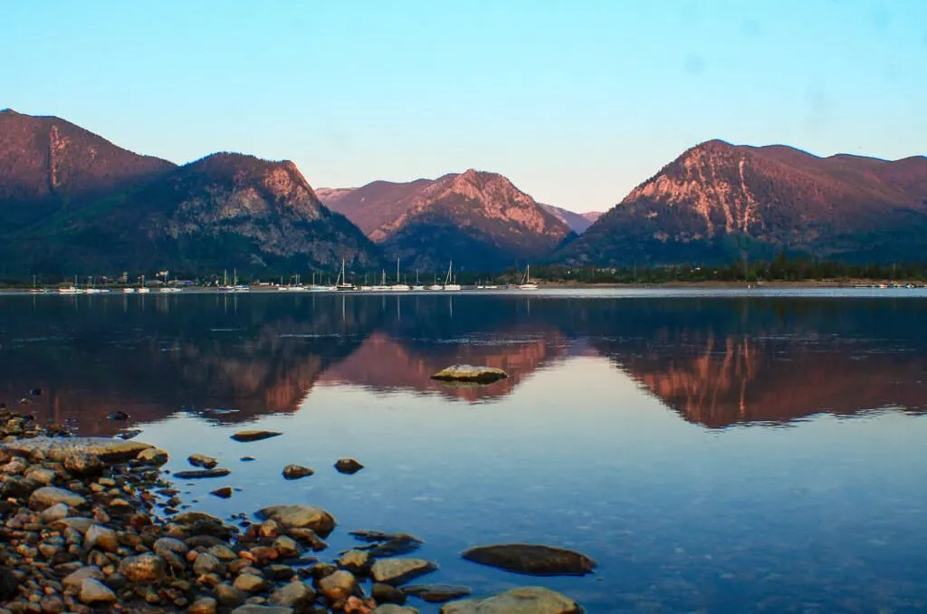 Lake Dillon at Sunrise, Things to Do Silverthorne