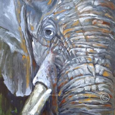 Make Room Elephant — oil
