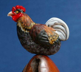 blue laced red wyandote rooster