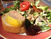 Foie gras salade