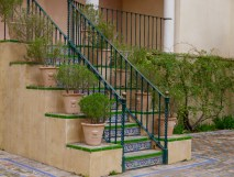 Garden steps Real Alcazar