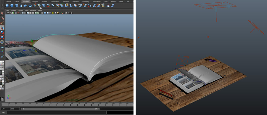 3D modelling and animation within Maya