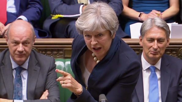 Theresa May at PMQs Prime Ministers Questions September 2017