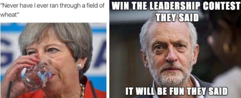 Theresa May Jeremy Corbyn Memes