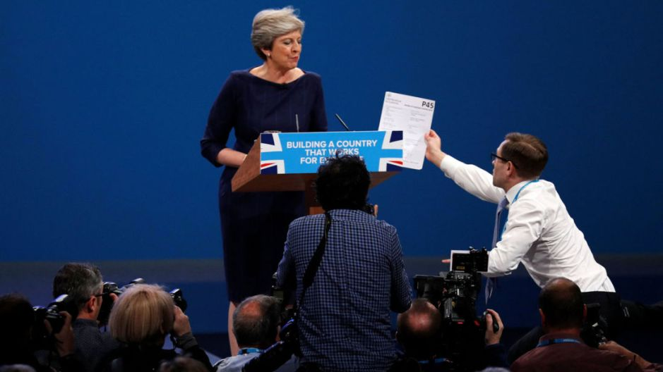 Theresa May P45 Lee Nelson