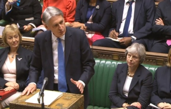 Philip Hammond and Theresa May House of Commons