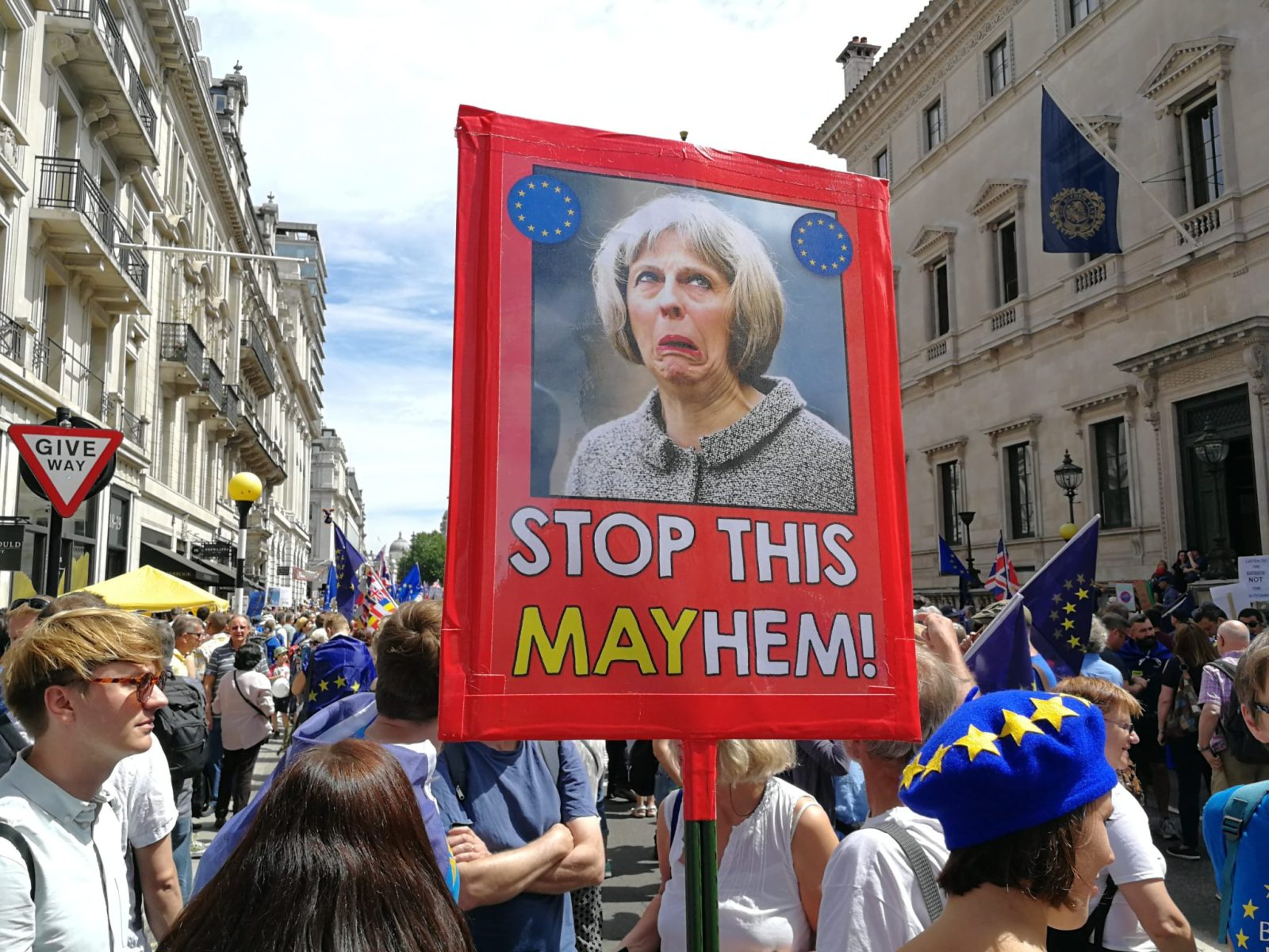 Theresa May Protest Sign