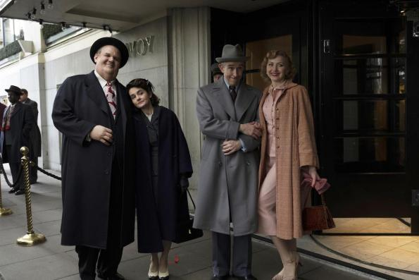 John C Reily Steve Coogan Shirley Henderson and Nina Arianda in Stan and Ollie