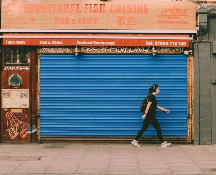 Britain High Street Shops Lockdown