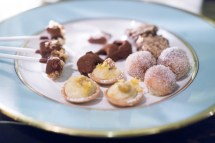 plate of sweets - del posto