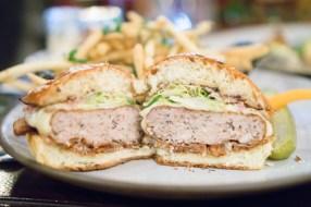 chicken burger - NoMad