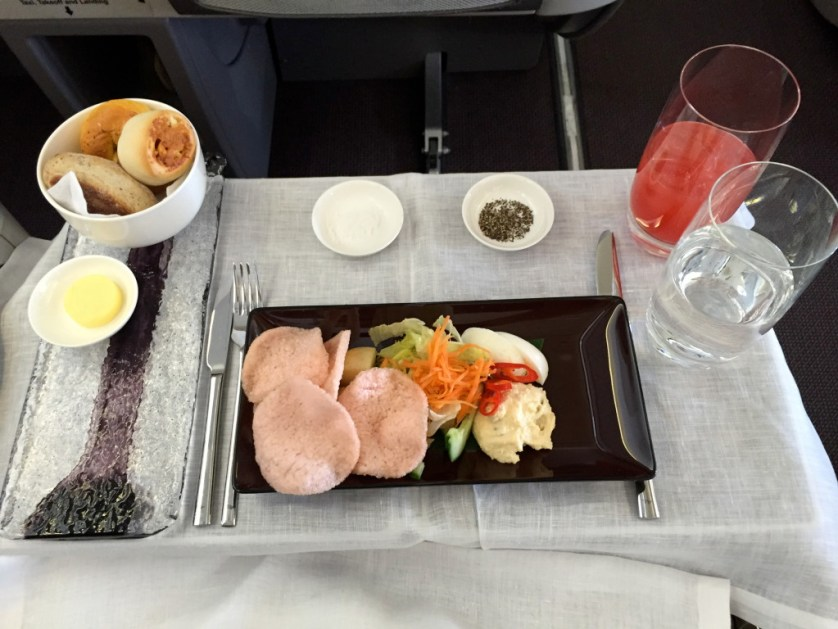 Garuda Indonesia Business Class Appetizer