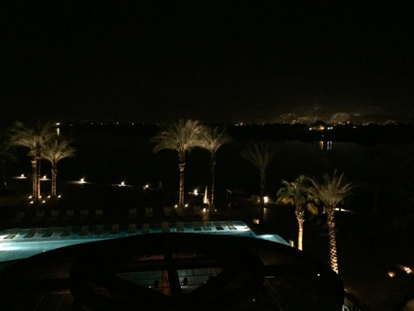 Luxor Nile view at night