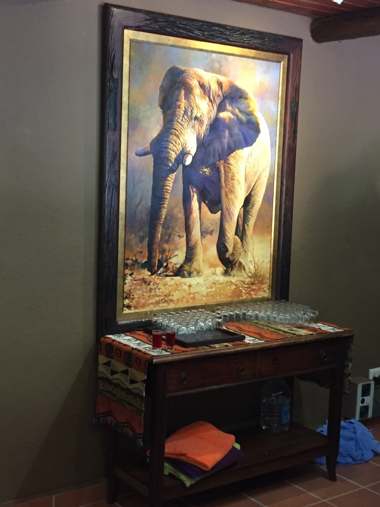 Elephant painting in the lobby
